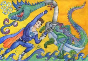 Битва с драконом-Олийнык Анастасия-13лет-Украина-Львов