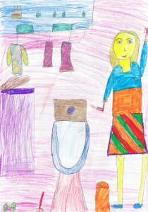 Бушанова Виктория Кирилловна, 7 лет, Моя мама сантехник