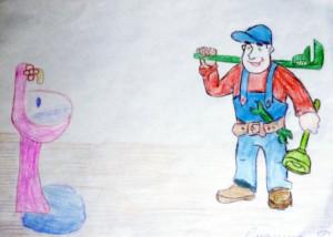 Дарья Смагина, 5 лет, Засор и лужа- вантуз нам нужен