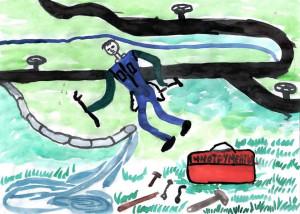 Исканьярова Зарина, 13 лет, Ремонт водопровода