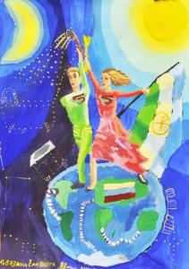Ковязина Елизавета 9 лет город Уфа, Сантехмен ходит по планете