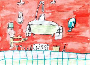 Нематиллаев Самат, Ремонт в ванне, 8 лет