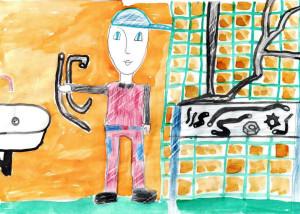 Папа-сантехник, Рыжова Ксения, 9 лет