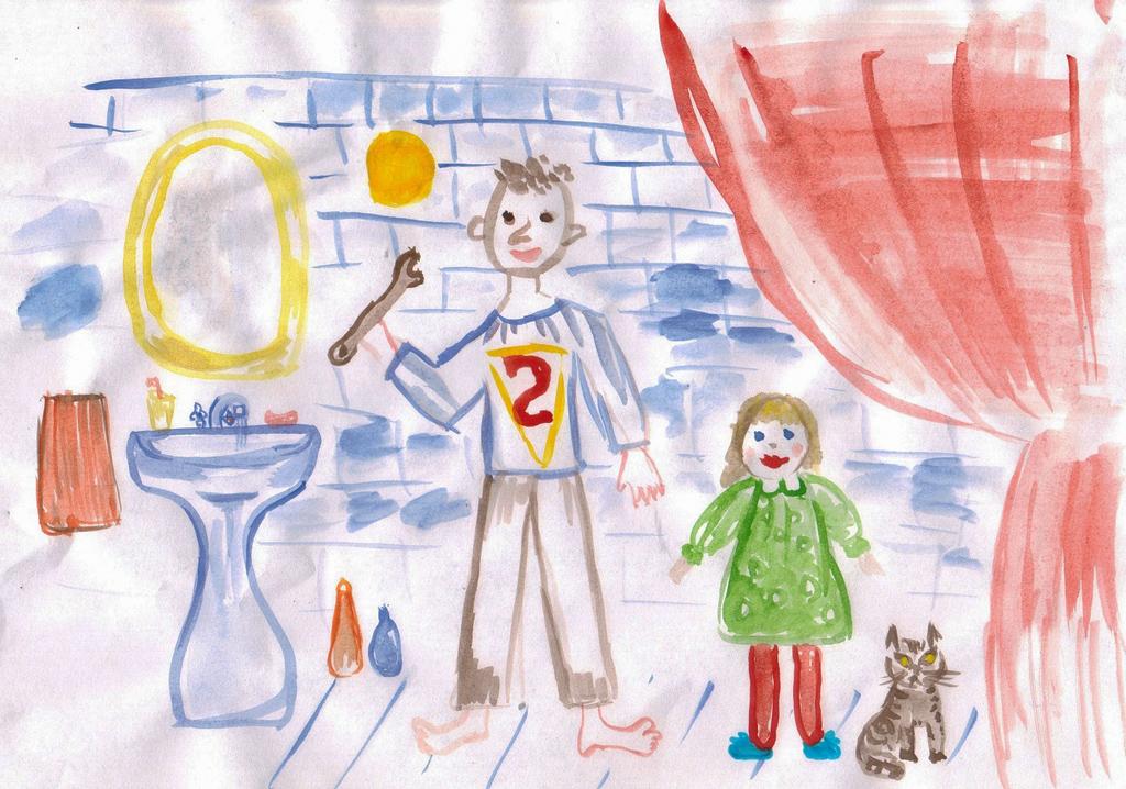 люба-чухарева, 5 лет. Я и папа
