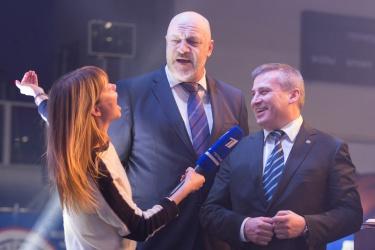Алла Михеева с Сергеем Шалем и Сергеем Ермаковым